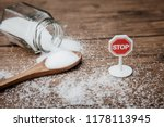 stop sign on the sugar  warned... | Shutterstock . vector #1178113945