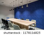 meeting room with luminous... | Shutterstock . vector #1178116825
