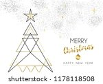 merry christmas happy new year... | Shutterstock .eps vector #1178118508