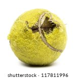 Chewed Tennis Ball Against...
