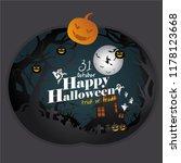 happy halloween greeting card... | Shutterstock .eps vector #1178123668