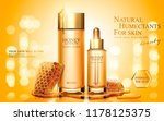 honey skincare product ads with ... | Shutterstock .eps vector #1178125375