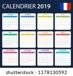 french calendar for 2019.... | Shutterstock .eps vector #1178130592