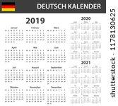german calendar for 2019  2020... | Shutterstock .eps vector #1178130625
