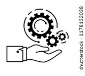 gear set icon for maintenance... | Shutterstock .eps vector #1178132038