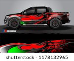 truck and car decal design... | Shutterstock .eps vector #1178132965