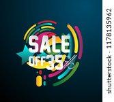 sale 35   beautiful greeting... | Shutterstock .eps vector #1178135962