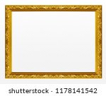 golden wooden frame isolated on ... | Shutterstock . vector #1178141542