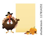 thanksgiving note | Shutterstock .eps vector #117814252