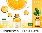 vitamin c essence ads with... | Shutterstock .eps vector #1178143198