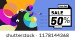 sale 50  discount banner with... | Shutterstock .eps vector #1178144368