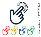 click icons with hand shaped on ... | Shutterstock .eps vector #1178161948