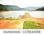 umiam lake stretches at... | Shutterstock . vector #1178164258