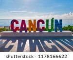Cancun Sign In Front Of Playa...