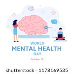 banner for world mental health... | Shutterstock .eps vector #1178169535