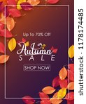 autumn sale background with...   Shutterstock .eps vector #1178174485