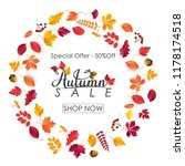 autumn sale background with...   Shutterstock .eps vector #1178174518