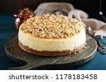 pecan caramel cheesecake  fall... | Shutterstock . vector #1178183458