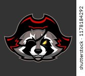 pirate raccoon mascot  sport or ... | Shutterstock .eps vector #1178184292