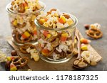homemade halloween trail mix... | Shutterstock . vector #1178187325