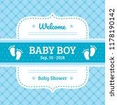 baby shower template   Shutterstock .eps vector #1178190142