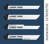 lower third design template.... | Shutterstock .eps vector #1178192752