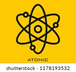 atomic icon signs | Shutterstock .eps vector #1178193532