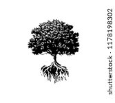 trees and roots silhouette | Shutterstock .eps vector #1178198302