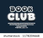 vector bright font with text...   Shutterstock .eps vector #1178204668
