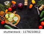 cooking vegetable stew concept. ... | Shutterstock . vector #1178210812