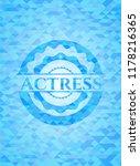 actress sky blue emblem with... | Shutterstock .eps vector #1178216365