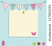 scrap book background with... | Shutterstock .eps vector #117822292