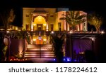 night photography for a villa... | Shutterstock . vector #1178224612
