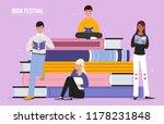 book festival poster vector... | Shutterstock .eps vector #1178231848