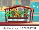 kitchen garden vector... | Shutterstock .eps vector #1178231908