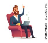 freelancer site in a chair and... | Shutterstock .eps vector #1178232448