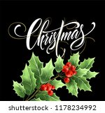 christmas lettering with...   Shutterstock .eps vector #1178234992