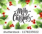 merry christmas hand drawn...   Shutterstock .eps vector #1178235022