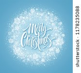 merry christmas lettering in... | Shutterstock .eps vector #1178235088