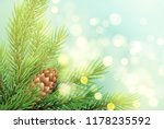 realistic spruce branch with... | Shutterstock .eps vector #1178235592