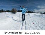 female cross country skier   Shutterstock . vector #117823708