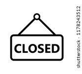 closed sign icon templates | Shutterstock .eps vector #1178243512