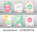 set of back to school card on...   Shutterstock .eps vector #1178249578