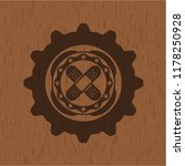 crossed bandage plaster icon... | Shutterstock .eps vector #1178250928
