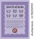 violet vintage invitation.... | Shutterstock .eps vector #1178250955