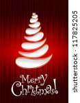 vector christmas card | Shutterstock .eps vector #117825205