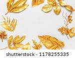 golden leaf design elements.   Shutterstock . vector #1178255335