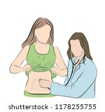 the doctor listens to the... | Shutterstock .eps vector #1178255755