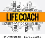 life coach word cloud collage ... | Shutterstock .eps vector #1178261068