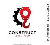 crane hook logo template design ... | Shutterstock .eps vector #1178263525